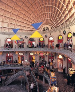 Leeds Corn exchange shopping